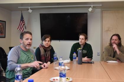 Meeting with Teachers at Stevenson High School